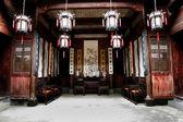 čína anhui hongcun hlavní místnost — Stock fotografie