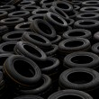 Chongqing Minsheng Logistics Auto Parts Warehouse reserves car tires — Stock Photo