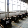 Chongqing Minsheng Logistics Auto Parts Warehouse car battery charging zone — 图库照片