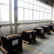 Chongqing Minsheng Logistics Auto Parts Warehouse car battery charging zone — Stok fotoğraf