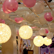 chongqing wedding expo balloon with a chandelier on the ceiling — Stock Photo