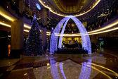 Jiangbei District, Chongqing Jinyuan Hotel Lobby Christmas decorations — Stock Photo