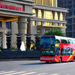On the south bank of Chongqing Nanbin double-decker tour bus — Stock Photo