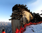 Huashan 2154.9 meters above sea level is one of the famous Chinese saying, which is next to the Dongfeng cited cited Feng Feng-ting loose — Stock Photo