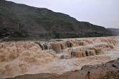 Linfen jixian stad beroemde hukousysteem waterval van de gele rivier hukousysteem — Stockfoto