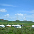 Inner Mongolia grassland Keerqin on wind farms — Stock Photo