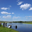 "Stock Photo: Inner MongoliHulunbeier Ewenki flag Yimin River ""photography enthusiast"""