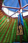 "Inner Mongolia Hulunbeier gold ""China's first Qushui"" mergel riverside grassland account Khan Mongol tribes dances yurts — Stock Photo"
