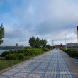 Manzhouli City, Inner Mongolia Hulunbeier Century Avenue sidewalk — Stock Photo #31761427