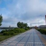 Manzhouli City, Inner Mongolia Hulunbeier Century Avenue sidewalk — Stock Photo