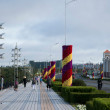 Manzhouli City, Inner Mongolia Hulunbeier Century Avenue sidewalk — Stock Photo #31761541