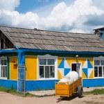 Inner Mongolia Hulunbeier amount Ergunaen and chic town of Riverside small farm house — Stock Photo #32069957