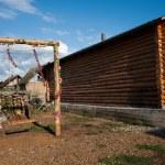 """Inner Mongolia Hulunbeier Ergun Riverside small farm house of the """"swing"""" — Stock Photo #32076315"""
