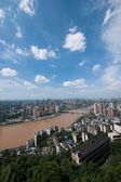 Yuzhong District, Jiangbei District, Yuzhong Peninsula and buildings — Stock Photo