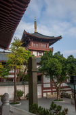 Shenzhen City, Guangdong Province, East Dameisha Huaxing Temple Square congregation pagoda Ama pool — Stock Photo