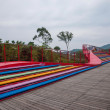 Shenzhen City, Guangdong Province, East Dameisha tea valley wetlands bridges — Foto Stock