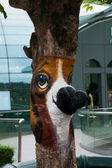 Shenzhen City, Guangdong Province, East Dameisha tea tree valley Interlaken market painted horse head — Stock Photo