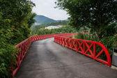 Shenzhen City, Guangdong Province, East Dameisha tea valley wetlands of Bald bridge — Stock Photo