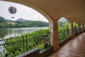 Shenzhen City, Guangdong Province, East Dameisha Tea Stream Valley Tennis Hall corridor — Stock Photo