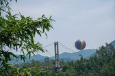 Shenzhen City, Guangdong Province, East Dameisha Tea Stream Valley helium balloon — Stock Photo
