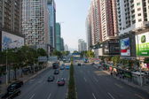 Shenzhen, Guangdong Huafu Road street — Stock Photo