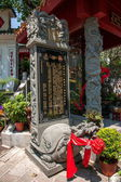 "Wong Tai Sin Temple, Kowloon, Hong Kong, ""Qin Shan Pavilion"" surrender monument — Stock Photo"