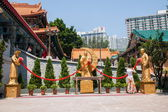 Wong Tai Sin Temple, Kowloon, Hong Kong, joking like — Stock fotografie