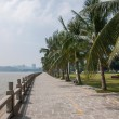 Road, Zhuhai, Guangdong couple promenade — Stock Photo
