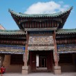 Ming Great Wall Jiayuguan City, Gansu monastery — Stock Photo