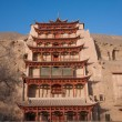 Dunhuang Mogao Grottoes nine floors — Stock Photo