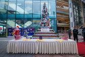 Chongqing North Star Hyatt Place 2012 Lake Shore Drive Christmas Tree — Stock Photo