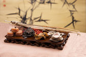 Chinese traditional medicine health benefit — Stock Photo