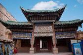 Ming grote muur jiayuguan stad, gansu klooster — Stockfoto