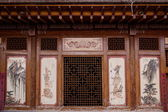 Gansu Dunhuang Folk Museum display Vernacular Architecture — Stock Photo