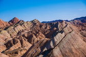Zhangye Danxia landform wonders National Geopark — Stock Photo