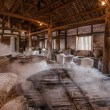 Zigong one thousand meters ancient salt - Sun Sewells ruins reproduce ancient tradition of salt craft workshops — Stockfoto #35228461