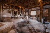 Zigong one thousand meters ancient salt - Sun Sea wells ruins reproduce the ancient tradition of salt craft workshops — Zdjęcie stockowe