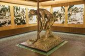 "Zigong zout museum zout technologie historica grote sculptuur ""zout werknemer boren"" — Stockfoto"
