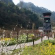 Leshan City, Sichuan Qianwei Kayo coal mine huangcun well station huangcun wellhead derrick rose — Foto Stock