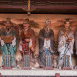 Leshan City, Sichuan Qianwei qianwei Temple Great Hall veranda on both sides of the East and West veranda with plastic statue of Confucius 72 sages Xianru — ストック写真