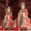 Fushun Fushun County, Sichuan Province Dacheng hall dedicated statue of Confucius Temple, and four with: Yan Hui, Zi Si, Zeng, and twelve philosopher Mencius. — Foto de Stock