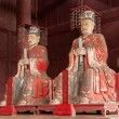 Fushun Fushun County, Sichuan Province Dacheng hall dedicated statue of Confucius Temple, and four with: Yan Hui, Zi Si, Zeng, and twelve philosopher Mencius. — Stockfoto
