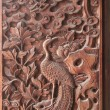 Fushun Fushun County, Sichuan Province, on the door of the Great Hall Temple exquisite sculptures — Stock Photo #35306945