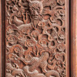 Fushun Fushun County, Sichuan Province, on the door of the Great Hall Temple exquisite sculptures — Stock Photo #35306999