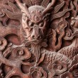 Fushun Fushun County, Sichuan Province, on the door of the Great Hall Temple exquisite sculptures — Stock Photo #35307013
