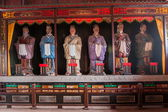 Leshan City, Sichuan Qianwei qianwei sides to accompany Ji Temple Daeseongjeon philosopher Confucius twelve — Stock Photo