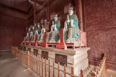 Fushun Fushun County, Sichuan Province Dacheng Temple worship hall twelve philosopher statue — Foto de Stock