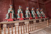 Fushun Fushun County, Sichuan Province Dacheng Temple worship hall twelve philosopher statue — Stockfoto