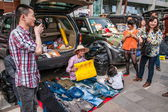 """Trunk Bazaar"" is a new social shopping experience life — Stockfoto"