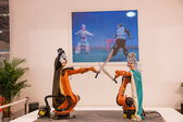 Exhibition on Chinese metallurgy robot show — Foto Stock